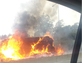 Truck On Fire On M50