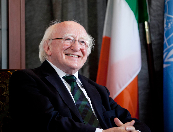President, Michael D Higgins, social media, Facebook, Twitter, Instagram