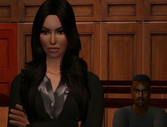 The Sims Version Of Taylor Swift & Kim Kardashian's Court Case
