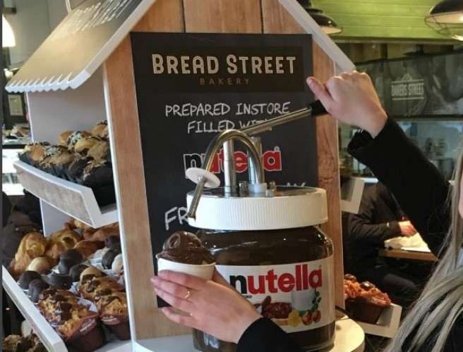 Giant Nutella Tap Spotted In Grand Canal