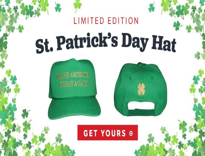 Big Error On Trump's 'Make America Great Again' St. Patrick's Day Hat