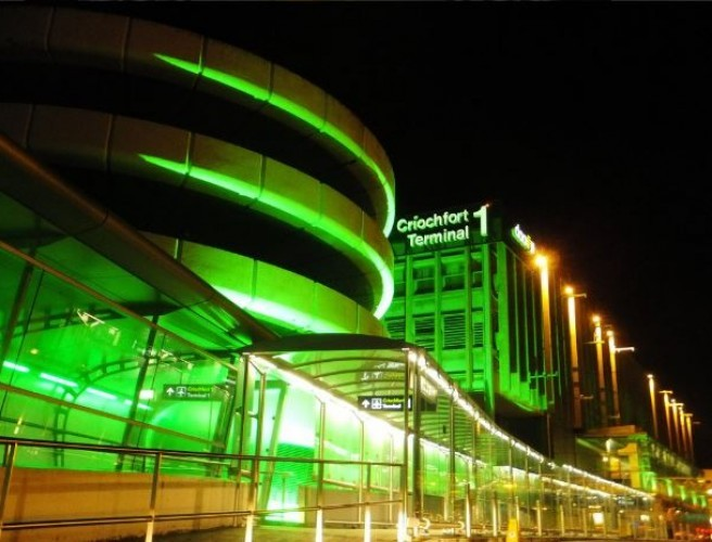 Dublin Airport Is Going Green Tonight For St Patrick's Day
