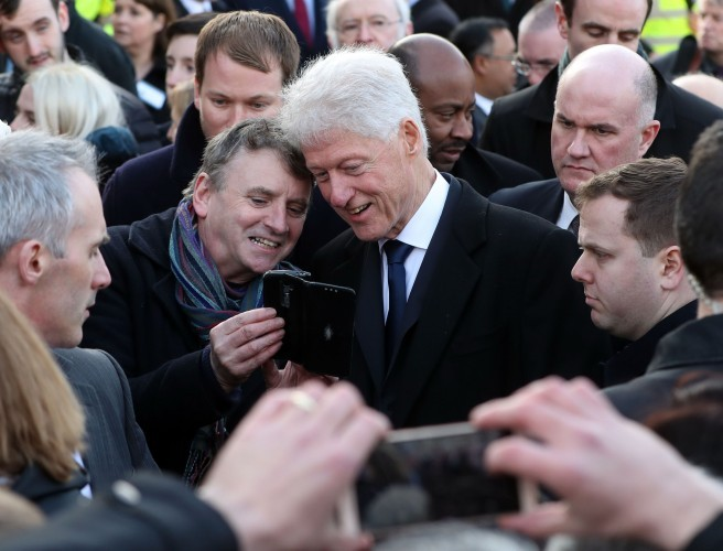 Bill Clinton Spotted in Dublin