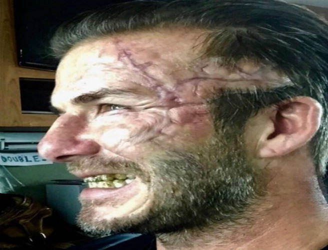 "David Beckham Had A ""Rough Day At The Office"""