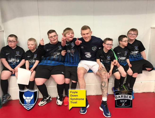James McClean Brings Mates To Play Derry Down Syndrome Side