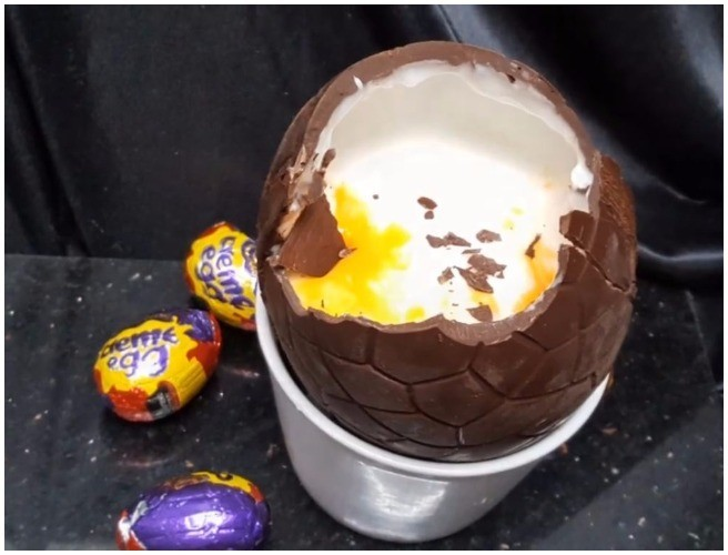 How To Make A Giant Creme Egg