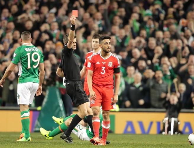 Wales' Neil Taylor Gets Extra Ban For Seamus Coleman Tackle