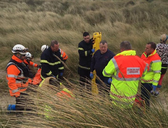 Kite Surfer Rescued After A 20 Foot Fall In Dollymount