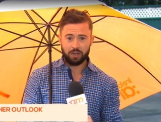 TV3 Weatherman Gets Blown Over On Live Telly