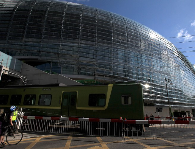 Irish Rail Staff Awarded For Helping Fans Get To The Aviva