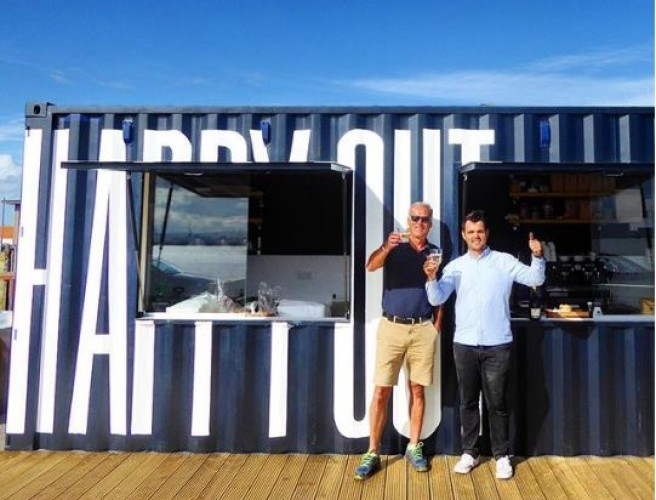 New Cafe Opens On Dublin Beach In Shipping Container