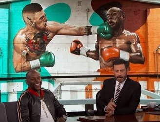 Mayweather Chats To Jimmy Kimmel About McGregor Fight