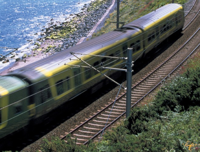 A DART Has Derailed In Dun Laoghaire