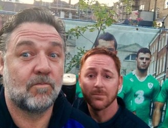 Russell Crowe Spotted Having Pints In Dublin