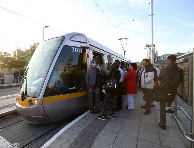 Longer Luas Trams Coming Down The Track