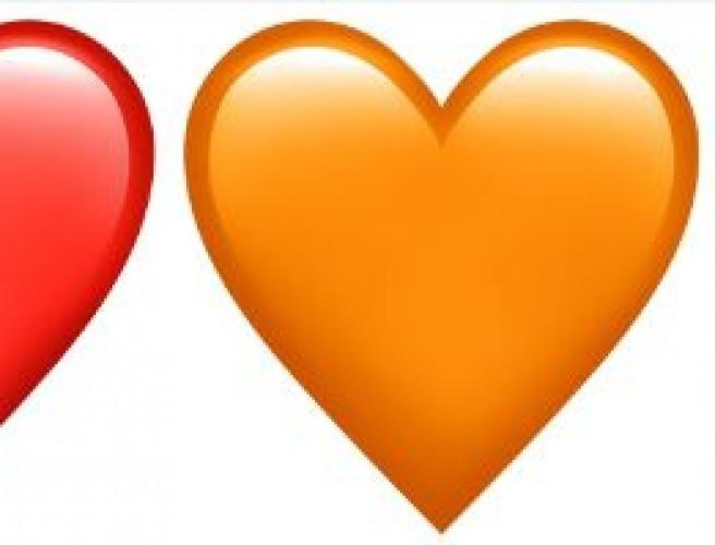 Orange Heart Completes The Emoji Rainbow