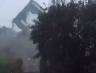 Footage Of Storm Ophelia Shows Roof Being Blown Off School