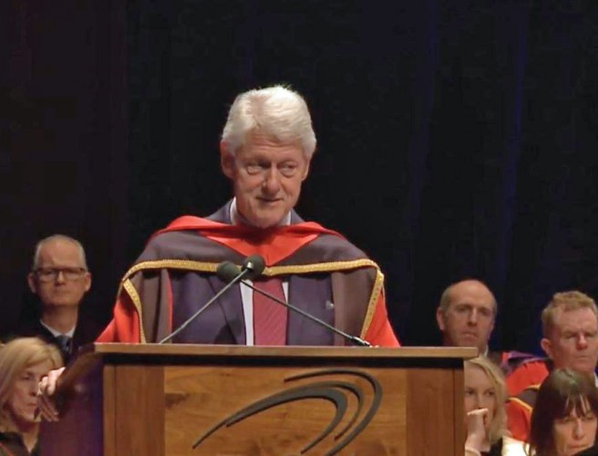 Bill Clinton Honoured at DCU