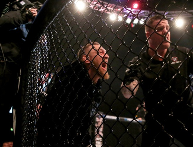 Conor McGregor Jumps Cage To Confront Ref At Dublin MMA Show