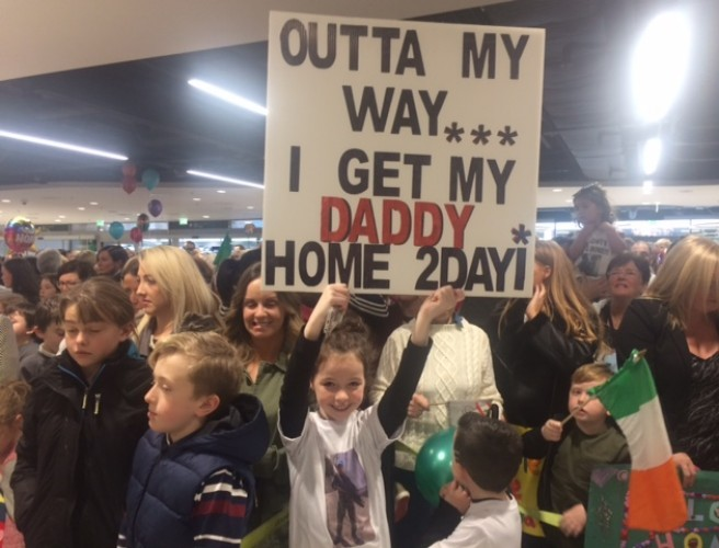 Defence Force Members Arrive Home To Dublin