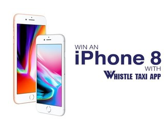 Win An iPhone 8 With Whistle Taxi App