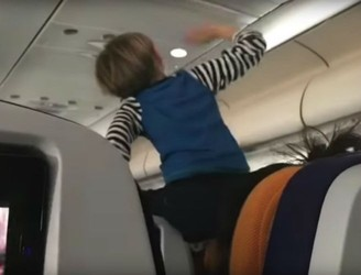 "Footage Of ""Demon Child"" On Flight Causes Huge Distress"