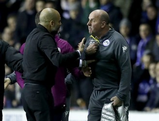 Pep Guardiola plays down tunnel row with Paul Cook