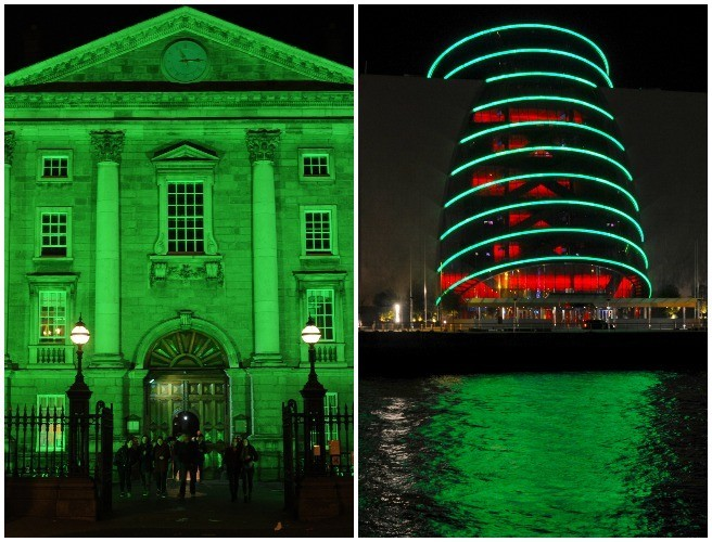 These Dublin Buildings Are Going Green For Paddy's Day