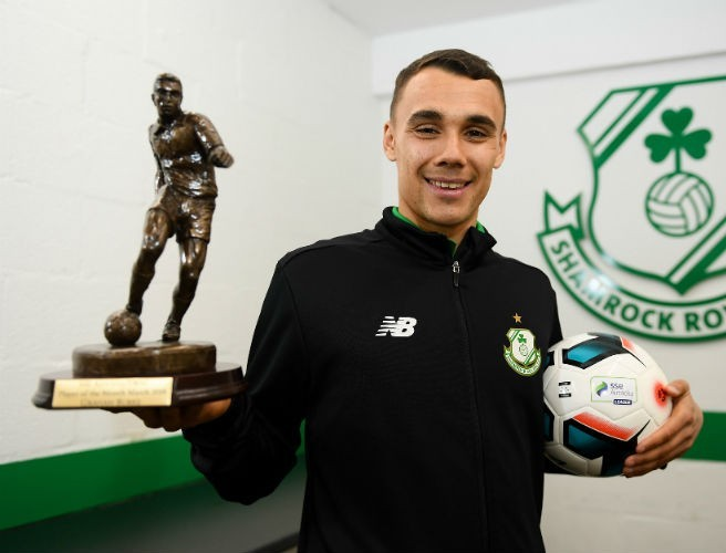 Shamrock Rovers striker Graham Burke wins player of the month gong