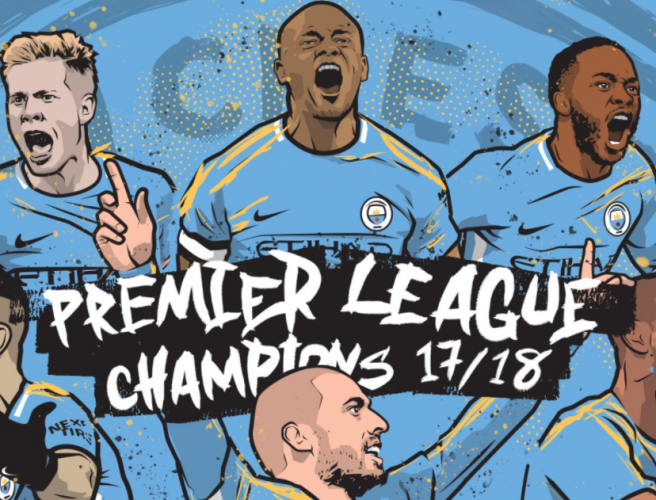 Montage: A Blue Monday for United as City are crowned champions