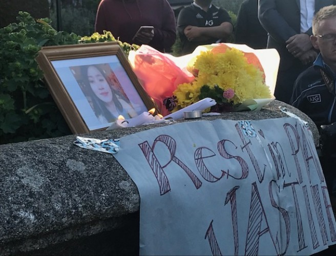 Hundreds Attend Vigil For Jastine Valdez