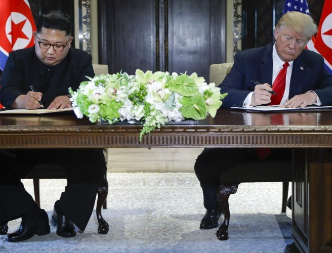 Donald Trump And Kim Jong Un Sign Historic Agreement