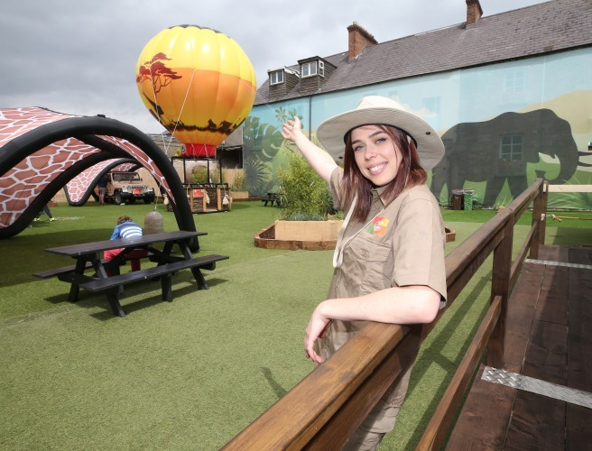 Summer Safari Area Opens In Dundrum Town Centre