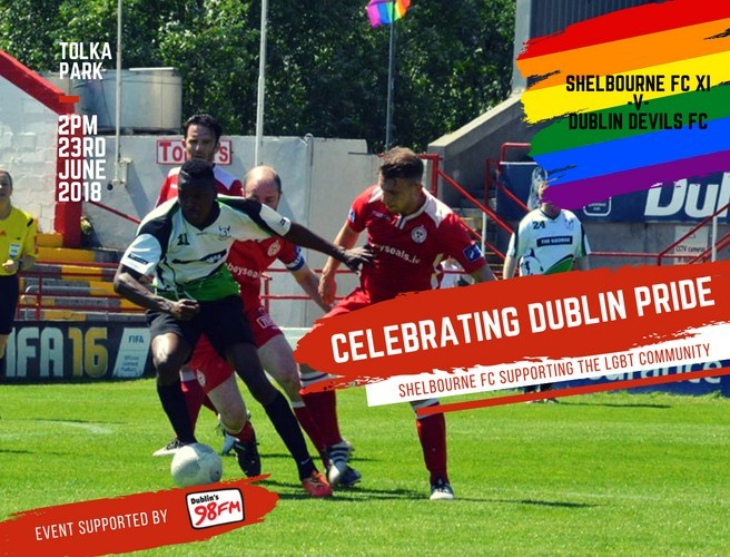 Ireland's First Gay Football Team To Play Shelbourne F.C.