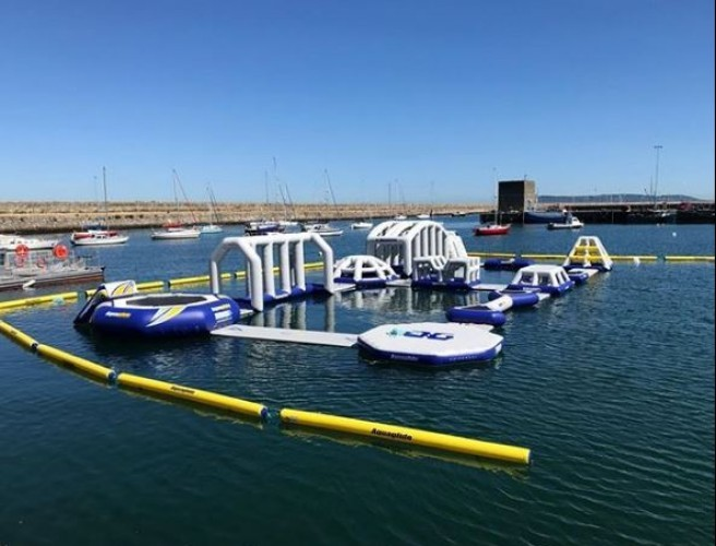 Dublin's First Inflatable Aqua Park Opens In Dun Laoghaire