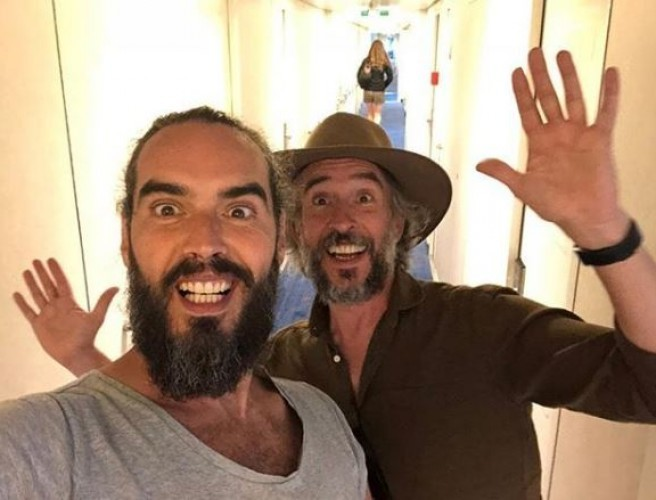 Russell Brand Arrives In Dublin To Film New Movie