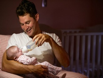 Should Working Fathers Be Expected To Do Night feeds?