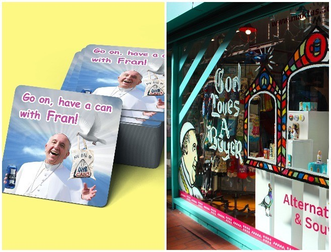 Dublin Store Launches Pope Themed Merchandise