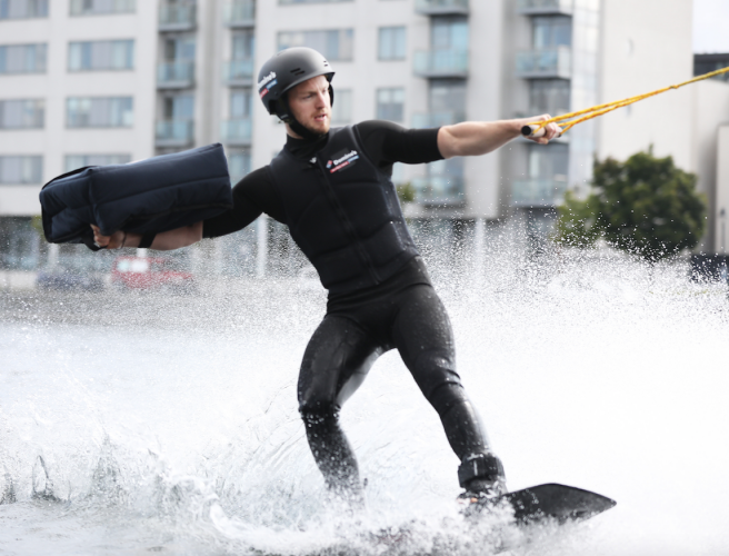 Watch Ireland's First Ever Pizza Delivery By Wakeboard