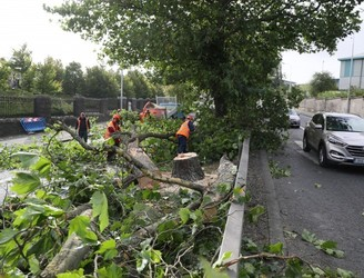 Storm Ali Causes Travel Disruption Across Dublin