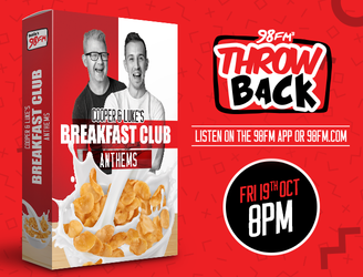 Catch A Special Show With Cooper & Luke On 98FM Throwback On Friday