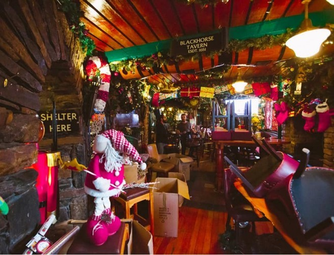 Dublin Pub Transforms Into Winter Wonderland