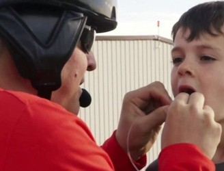 Dad Uses Helicopter to Pull Out Son's Wobbly Tooth