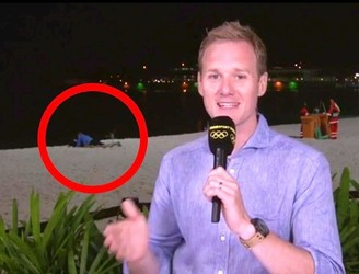 BBC Reporter in Rio Interupted by Couple Getting Busy on the Beach