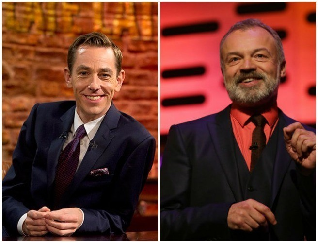 Tonight's Late Late And Graham Norton Show Line Up